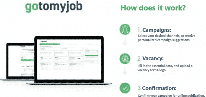 campaign display and overview of gotomyjob