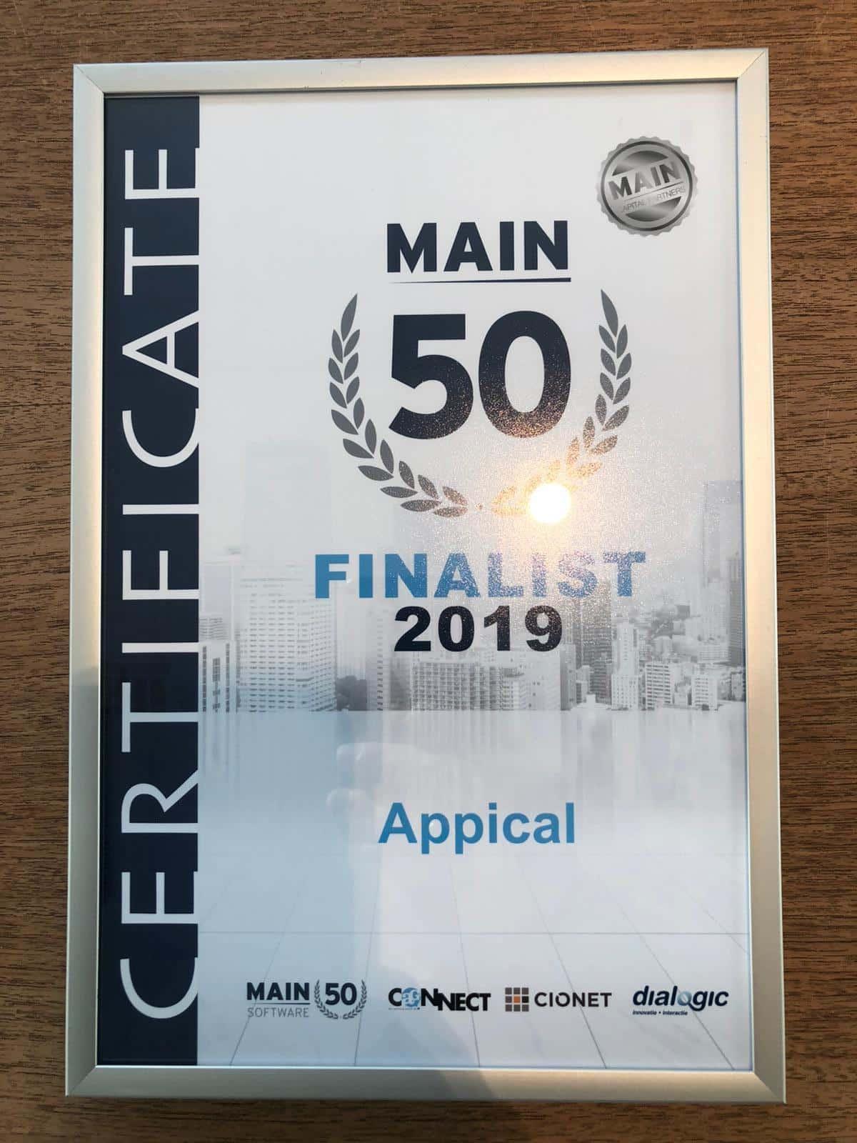 Ook Appical was dit jaar een finalist!