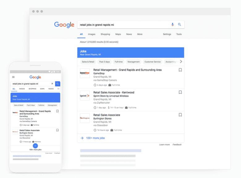 Vacatureteksten schrijven Google for Jobs job search